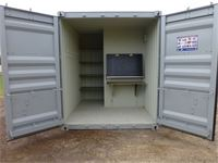 BUILDERS COMBO 10` Shipping Container - Toilet - Storage - Bench
